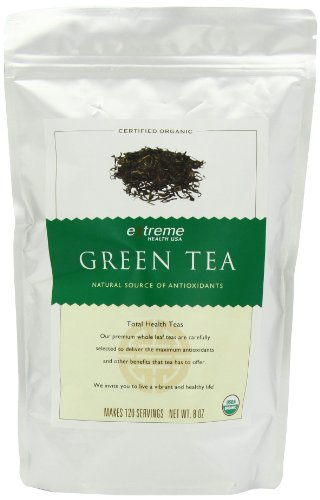 Extreme Health's Organically Grown Green Tea, Loose Leaf, 8-Ounce Bag