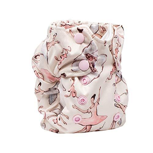 No Prep Cloth Diaper for Newborns - Smart Bottoms Born Smart 2.0 - Washable, Reusable - Natural Fiber Interior (Little Dancers)