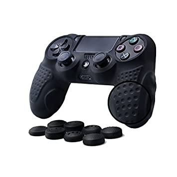 CHIN FAI PS4 Controller Skin Case Cover with 8 Thumb Grips, Anti-slip  Silicone Skin Grip Protector Cover Case For Sony PS4/ SLIM/PRO Controller
