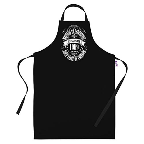 50th Birthday Gifts for Men Him Dad Husband BBQ Cooking Apron Matured 1970