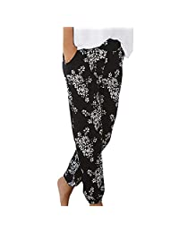 VEZAD Store Bohemia Beach Pants Women High Waist Printing Long Trousers