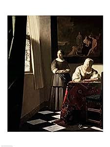 Johannes Vermeer – Señora que escribe una letra con su criada Artistica di Stampa (45,72 x 60,96 cm)