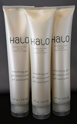 Halo Illuminating Color Protection Smoothing Gel 6oz By Graham Webb (3 Pack) (Halo Smoothing Gel)