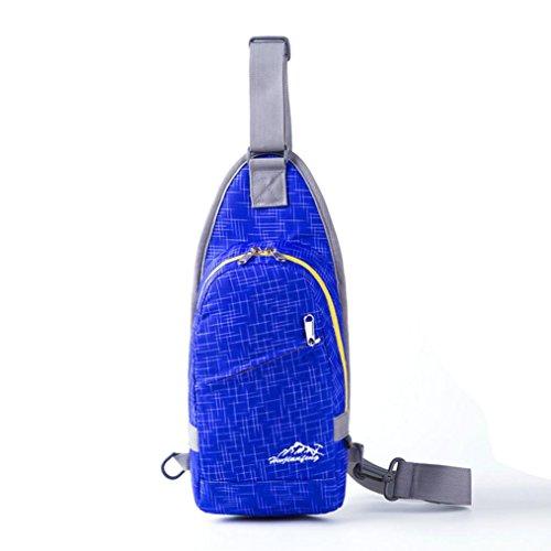 Sport Small climbing Chest Orange Nylon Backpack Kolylong or Bag men Women Outdoor Blue Bag Shoulder Travel Durable qwwBXvF