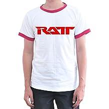 Toyz T shirt Store Ratt T Shirt X-Large White