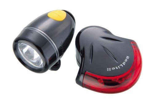 Topeak HighLite Combo II - WhiteLite II and RedLite II (Black) by - Highlite Topeak Combo