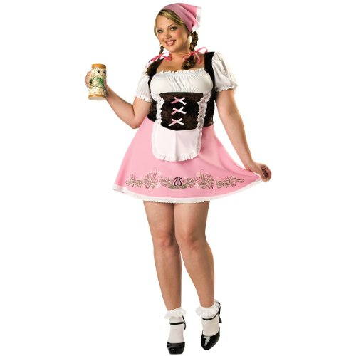 Womens Plus Size Bavarian Girl Costumes (Fetching Fraulein Adult Costume - Plus Size 2X)