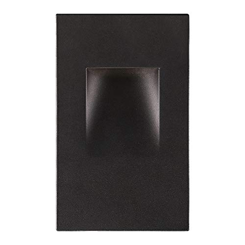 OSTWIN LED Step Light Indoor/Outdoor Stair Light Fixture, Vertical Stairway Light, Dimmable, Black Finish, 3 Watt, 3000 K (Warm Light) 70 LM, ETL Listed
