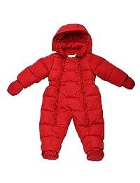 Oceankids Winter Baby Girl's One-Piece Detachable Hood Duck Down Snowsuit