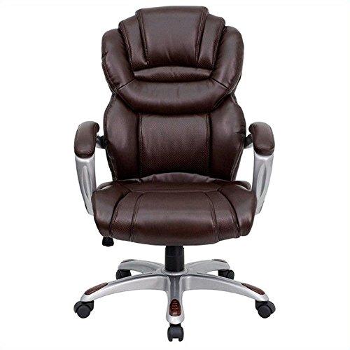 Flash Furniture GO-901-BN-GG High Back Brown Leather Executi