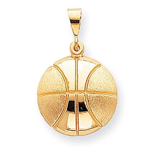 10 k-Ballon de basket de haute qualité-Or Or 9 Carats JewelryWeb