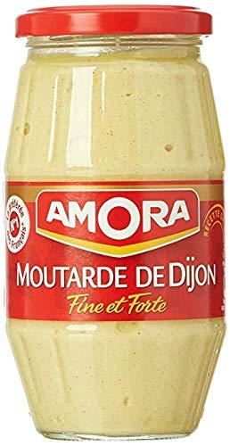 Amora Moutarde de Dijon Fine et Forte - Fine and Strong French Dijon Mustard, 440g (15.5oz) Jar