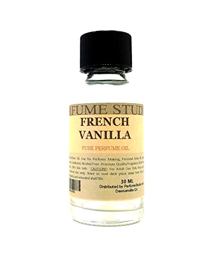French Vanilla Perfume Oil for Perfume Making, Personal Body Oil, Soap, Candle Making & Incense; Splash-On Clear Glass Bottle. Top Quality Undiluted, Alcohol Free (1oz, French Vanilla Fragrance - Vanilla Soap French