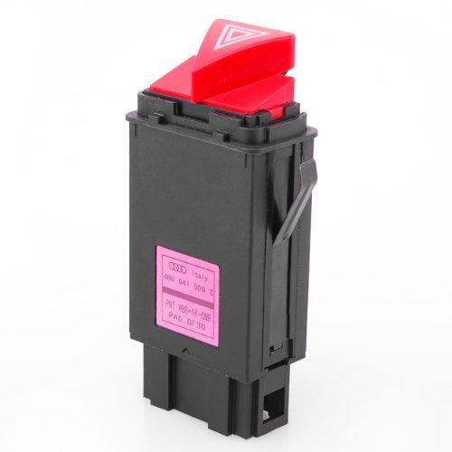 LOOYUAN Hazard Warning Light Flasher Switch Emergency Fit for Audi A6 A6 Quattro ZSB0251