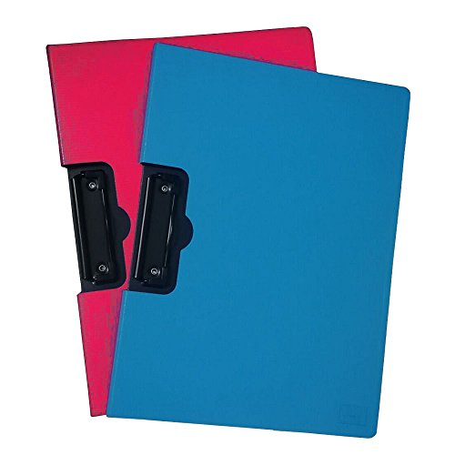 - Padfolio Clipboard Horizontal Profile Clip File Folder 360 Degree Flip Writing Pad PP File Clipboard for A4 Business Papers Contracts Documents Phido 2pcs(1 Blue+1 Rose Red)