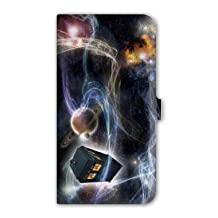 Leather flip case Samsung Galaxy Grand Prime Doctor Who - - espace N -
