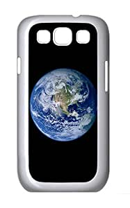 Samsung Galaxy S3 I9300 Case,Samsung Galaxy S3 I9300 Cases Earth Polycarbonate Hard Case Back Cover for Samsung Galaxy S3 I9300 White