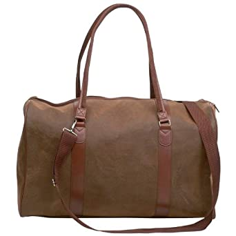 Faux leather travel bag