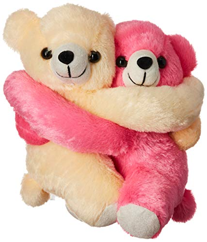 Webby Huggable Soft Teddy Bear Plush Stuffed Toy  18cm  Set of 2