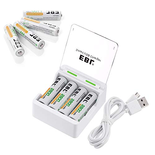 (EBL Individual &Quick &Smart Rechargeable Battery Charger with AA Batteries and AAA Batteries)