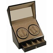 Generic YH-US3-160519-458 8yh3541yh RAGE BOX/CASE DOUBLE QUAD WATCH WINDER DIS BLACK WOOD 4+ 4 BLACK WOO WINDER DISPLAY DUAL DOUB AUTOMATIC DUAL + 4 AUTOM STORAGE BOX/CASE