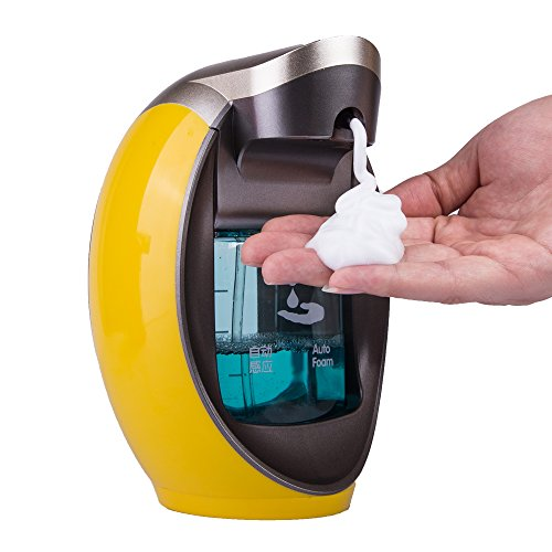 Yooap Auto-induction Sensor Pump 480ml/16 oz. Touchless Hand-free Soap Dispenser for Bathroom,...
