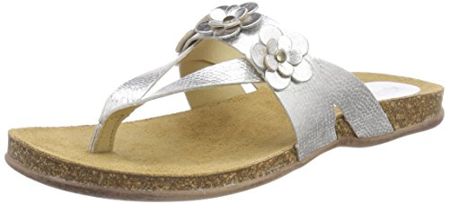 Kickers Afflow - Sandalias con Punta Abierta Mujer Silber (Argent)