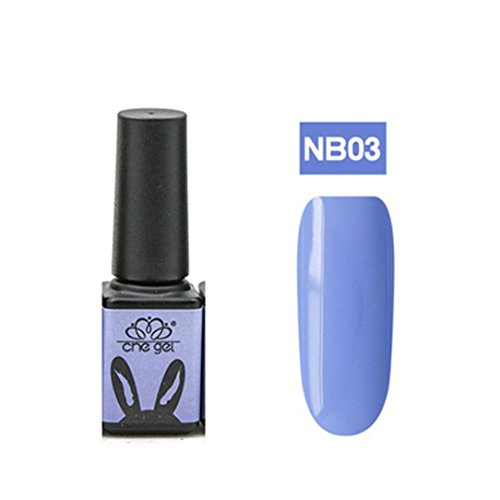 Nail UV Gel Polish Soak Off Nail Art Topcoat Cat Powder Wax Blue Gel