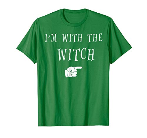Mens Halloween Couples Costume T Shirt Im With The Witch