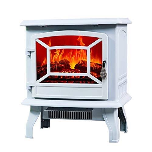 Cheap Fireplace European-Style Electric Independent Grilling Stove Heater Simulation Flame Electric Core Mobile Small (Color : White) Black Friday & Cyber Monday 2019