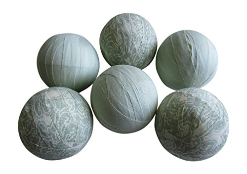 From The Attic Crafts Rag Balls Mint Green Heirloom Floral Farmhouse Style Bowl Fillers 2.5'' diameter Set of 6 by From The Attic Crafts (Image #6)