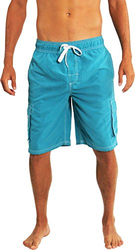 Norty Swim - Mens Swim Suit, Aqua 39267-Large
