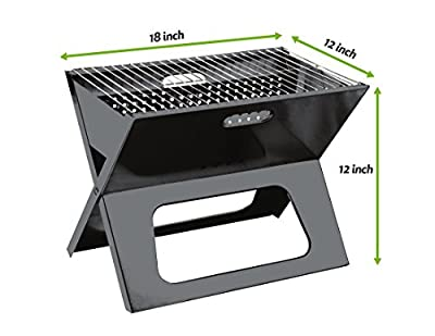 Cedar Trail Original Compact Portable & Folding Stowaway BBQ Charcoal Grill