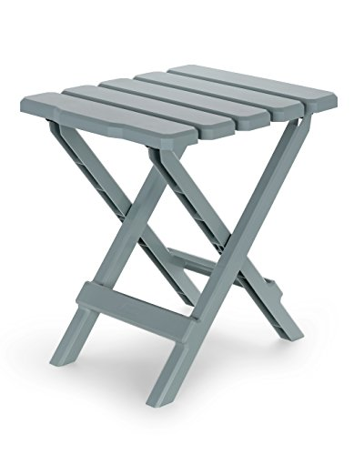 Camco 51682 Gray Regular Adirondack Portable Outdoor Folding Side Table, Perfect for The Beach, Camping, Picnics, Cookouts and More, Weatherproof and Rust Resistant by Camco