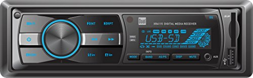 Dual Electronics XR4115 Multimedia Detachable Mechless LCD High Resolution Single DIN Car Stereo Receiver with Built-In USB, SD Card, MP3 & WMA Player (Delta Sound Card)