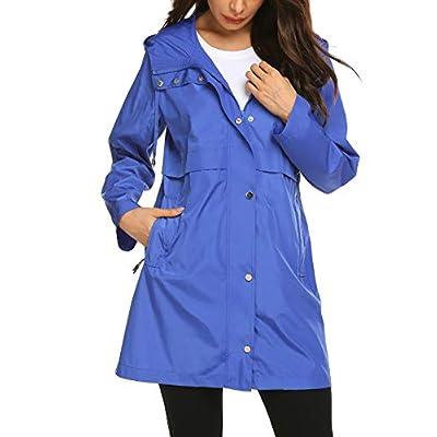 Avoogue Rain Jacket Women Waterproof Raincoat with Hood Plus Size Lightweight: Clothing