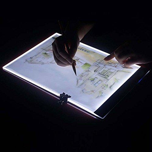 Ultrathin 3.5mm A4 LED Light Tablet Pad Apply to USPlug/USB Embroidery Diamond Painting Cross Stitch - Capt Hook Costumes