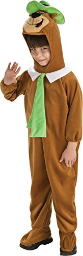 [UHC Yogi Bear Plush Jumpsuit Toddler Kids Fancy Dress Halloween Costume, 2T-4T] (Yogi Bear Halloween Costume)