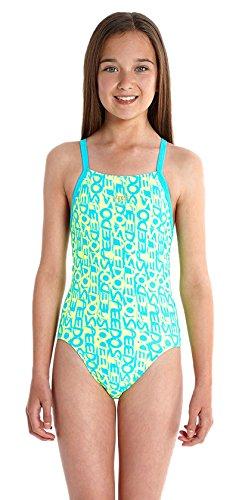 Speedo Alv Rlbk Jf Swimming Costume For Girls Multi Coloured Text