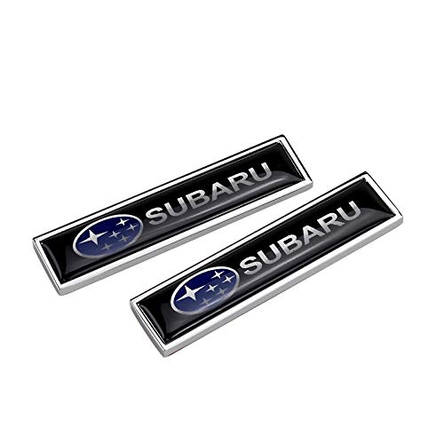Zhmyyxgs 2 Pcs Metal Decorative Logo Badge Sticker Refit Logo Auto Car Rear Side Fender Stickers Accessories for - Subaru Decal