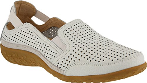outlet for nice tumblr cheap online Spring Step Women's Juhi Perforated Slip On White Full Grain Leather outlet newest from china online mSzIl9