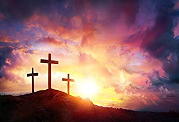 Amazon Com Laeacco Jesus Christ Cross Sunrise Photography Background 10x6 5ft Worship Three Crosses Hill Bokeh Glite Cemetery Cross Church Christmas Easter Crucifiction God Sunset Scripture Cross Horizon Camera Photo