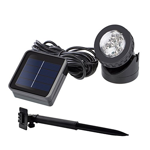 72' Pond (Weatherproof Outdoor Solar Energy Powered LED Spotlight Available for Outdoor Garden Pool Pond Spot Lamp Light)