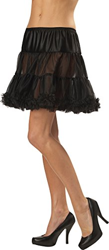 California Costumes Women's Ruffled Pettiskirt,Black,Small/Medium -