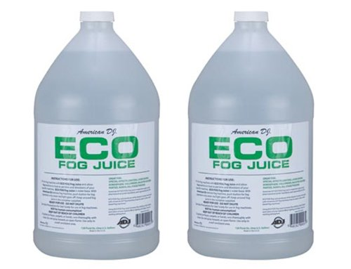 (2) AMERICAN DJ ECO-FOG/G Gallons of Fog/Smoke/Haze Machine Refill Liquid Juice