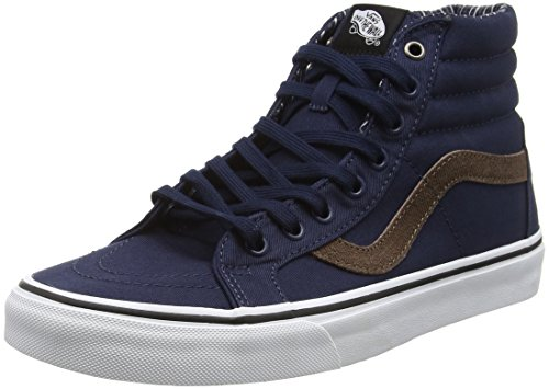 Vans Sk8-Hi Reissue Cord and Plaid Dress Blue High-Top Skateboarding Shoe -...