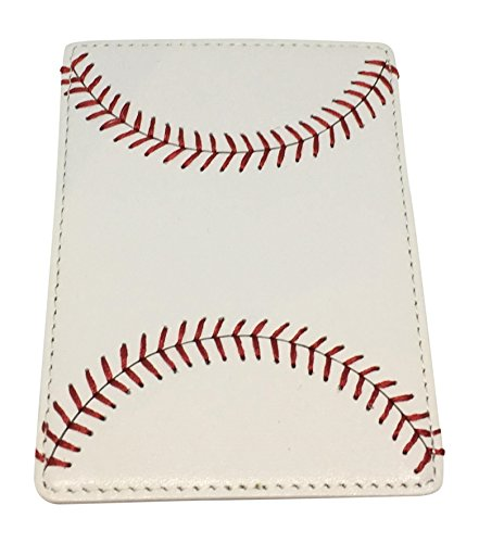 BallPark Leather Baseball Seam Money Clip ()