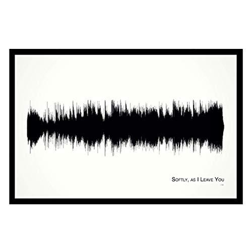 Softly, as I Leave You - 11x17 Framed Soundwave print