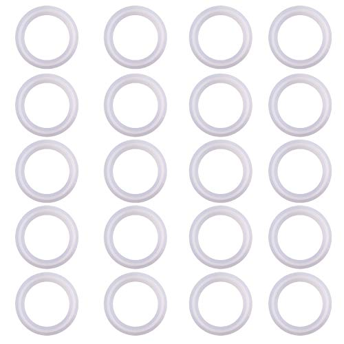 DERNORD Silicone Gasket Tri-Clover (Tri-clamp) O-Ring Pack of 20 (3