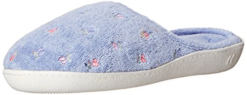 isotoner-womens-terry-embroidered-scalloped-clog-periwinkle-75-8-m-us